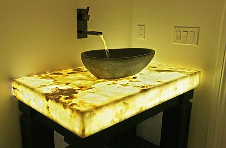 Semi Precious Gemstones In Earth Tones Like This Agate Geode Countertop. Or  In A Bolder Hue That Reflects Your Style.